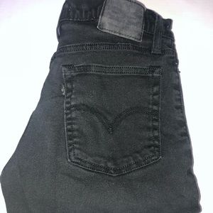 Womens Black Ripped and Frayed Levi's